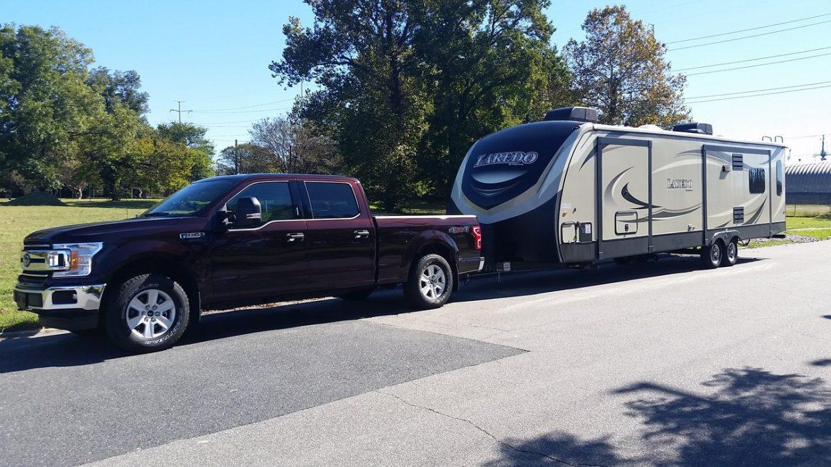 Notre Ford F-150 et notre roulotte de 27 pieds